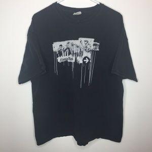Mens XL Linkin Park Band Black Short Sleeve Shirt